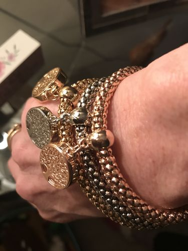 "Audrey H. review of ""Tree of Life"" Charm Bracelet with Austrian Crystals"