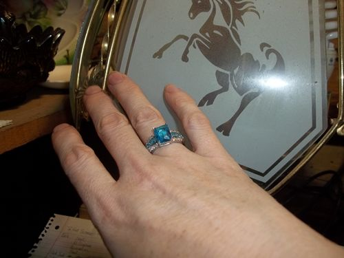 Verna C. review of Sapphire Aquamarine Ring - Ring Size's: 8, 9, 10