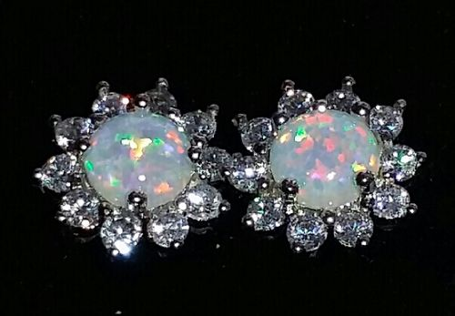 Eliska C. review of White Fire Opal Silver Earrings