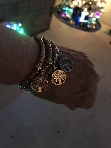 "Sylvia  G. review of ""Tree of Life"" Charm Bracelet with Austrian Crystals"