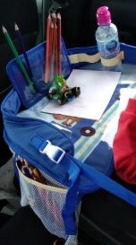Lavínia B. review of Bandeja infantil portátil MULTIFUN CAR multi-atividades e refeição para cadeira de carro e carrinho de bebé