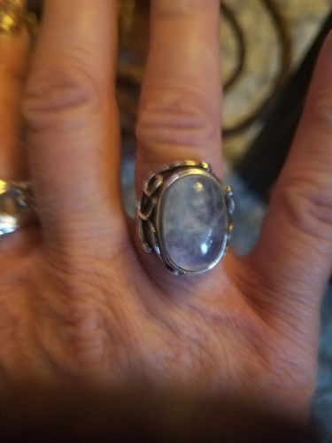 Heather B. review of Natural Moonstone Ring - 925 Sterling Silver