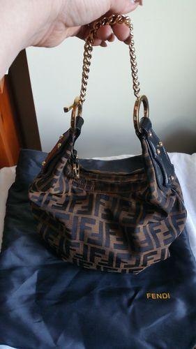 Fendi Zucca Monogram Hobo Shoulder Bag 4b7cf80082a9c