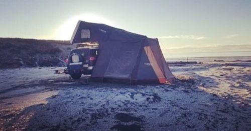 iKamper   Skycamp Roof Top Tent & EatOut Outdoor Kitchen