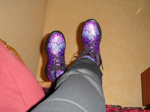 Amazing Boots Tagged Butterflies Ushopcafe