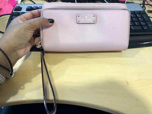 Baby pink large Kate spade wallet 83dd691f6ba4d