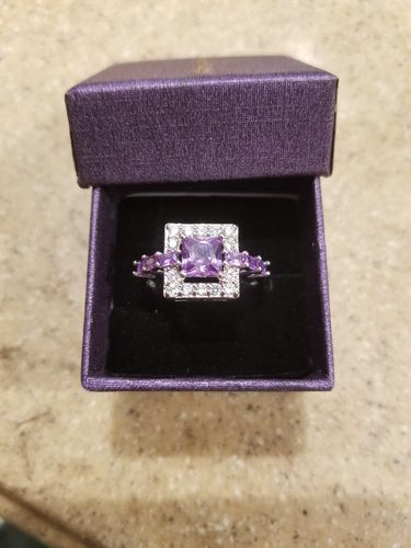 Edi H. review of Amethyst Square Crystal Ring