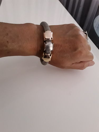 Maxine B. review of Cube Charms Metal Bracelet
