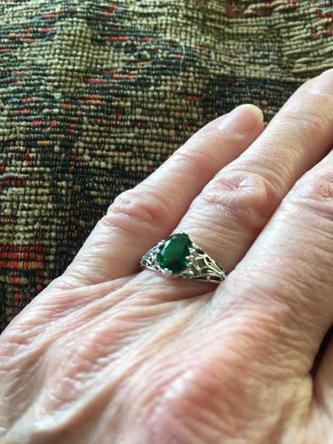 Janis B. review of Emerald Vintage Ring - 925 Sterling Silver