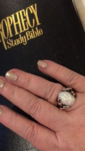 Chuck K. review of Beautiful Tree & Flower Opal Ring