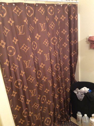 Louis Vuitton Logo Pattern Custom Shower Curtain