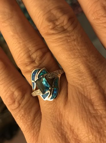 Dale G. review of Blue Sapphire Opal Ring