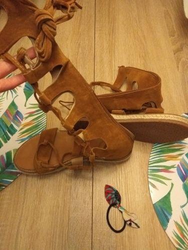 c6deecaeb078 Beautiful Lace Up Gladiator Sandals