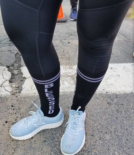 872829add2c Blessed Black Knee High Athletic Socks- The Sox Box