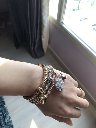 nourhan sayed M. review of Solid Hearts Charm Bracelet Set