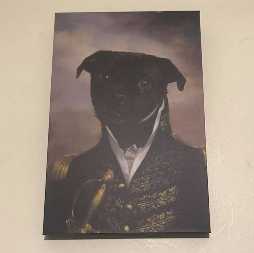 cb49c2cd2da3 The Admiral - Custom (Your Pet) Canvas Art – Paw & York