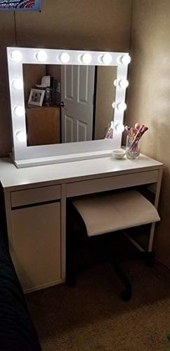 Chende Hollywood Lighted Mirror For Vanity Table Large Vanity
