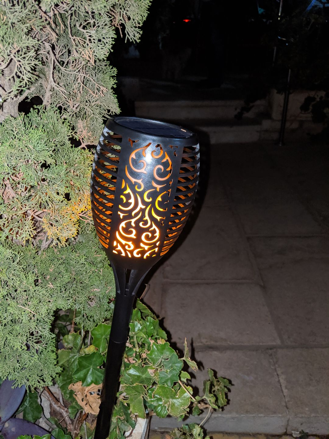 Fahmi N. review of Outdoor Solar Flame Light Torch
