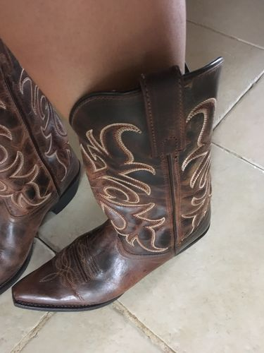 Laredo Ladies Dianna Rust Embroidered Western Boots 51114