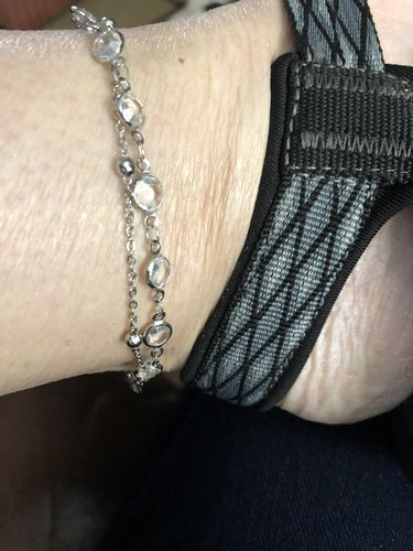 Patricia H. review of Chevron and Crystals Anklet Set - 3pcs