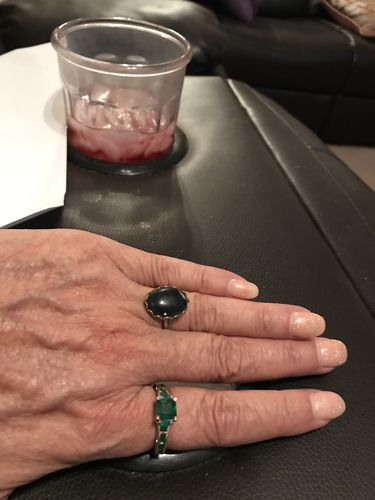 Heather M. review of Emerald White Silver Ring