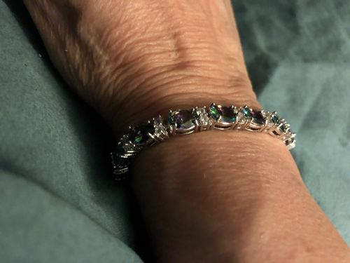 Sharon H. review of Rainbow Mystic Topaz Crystal Bracelet