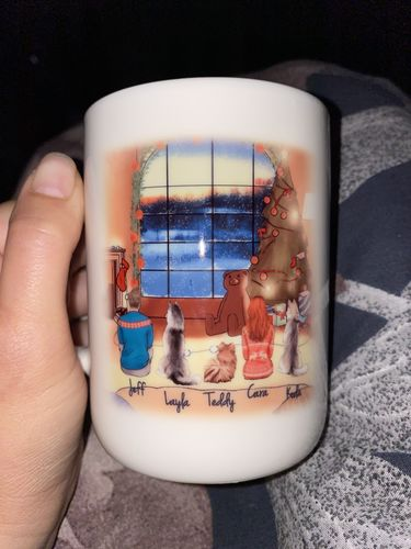 Cara S. review of Customize Hand Drawn Dog & Owner Mug Holiday of Gift -Merry Christmas 1