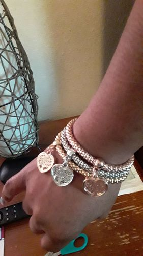 """Nikita L. review of """"Tree of Life"""" Heart Edition Charm Bracelet with Austrian Crystals"""