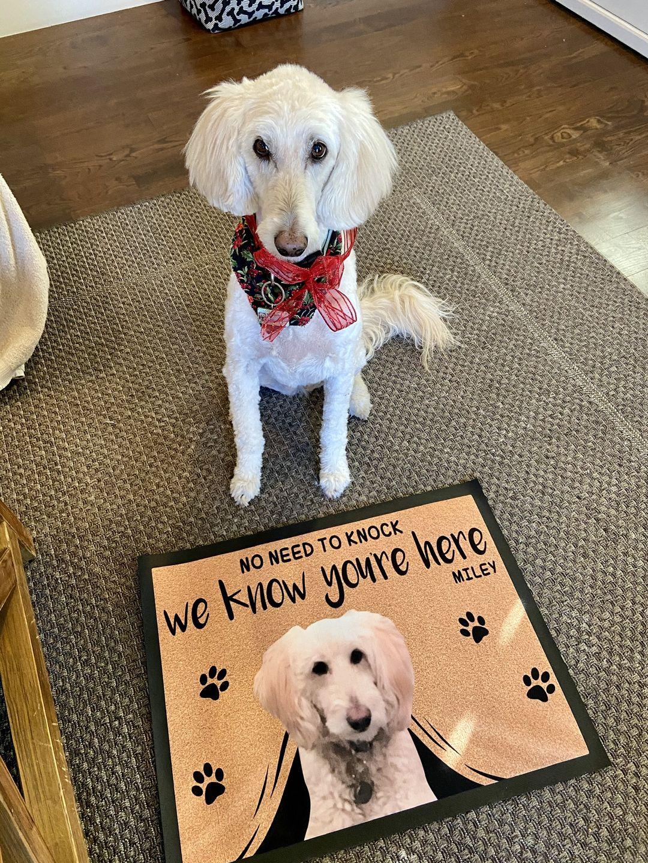 Jeff H. review of Custom Dog Doormat