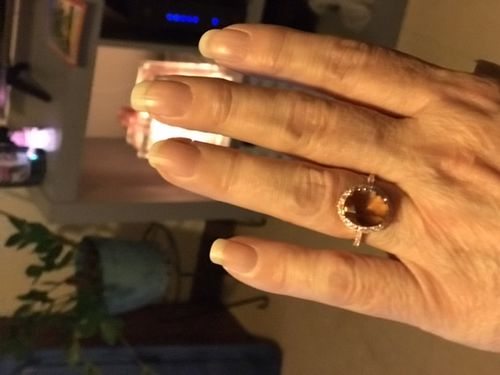Janice M. review of Rose Gold Citrine Ring - 925 Silver Ring