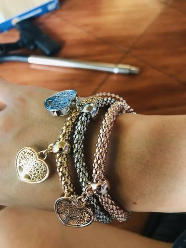 """Kareina B. review of """"Tree of Life"""" Heart Edition Charm Bracelet with Austrian Crystals"""