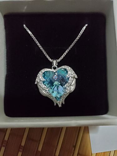 Serina  S. review of Heart & Wings Necklace