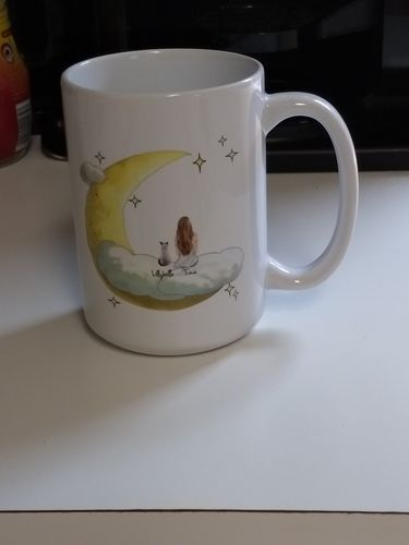 Tina E. review of Customize Hand Drawn Cat & Owner Mug Holiday of Gift -Cloud with Moon