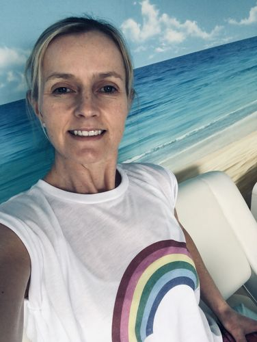 Louise M. review of Rainbow Raw Hem Tee