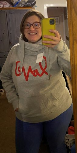 Anna L. review of Grey Love Me Cowl Neck Hoodie