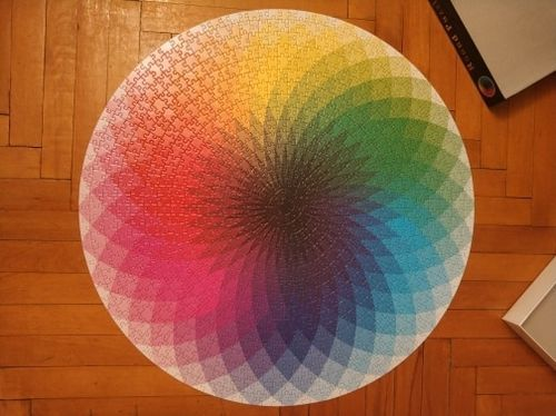 Miriam P. review of Moruska Large 1000-Piece Rainbow Round Puzzle for Kids & Adults