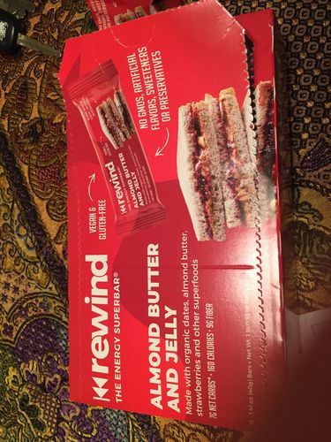 Deb  M. review of Almond Butter & Jelly (Box of 12 Superbars)