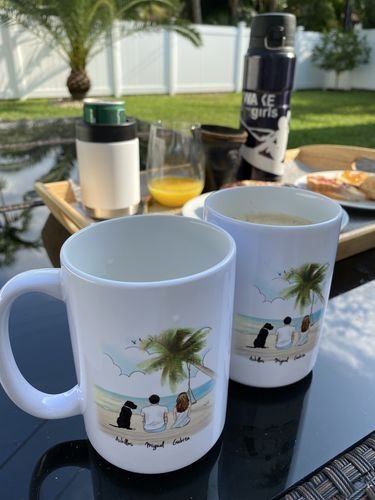 Gabriela  A. review of Customize Hand Drawn Dog & Owner Mug Holiday of Gift -Hawaii