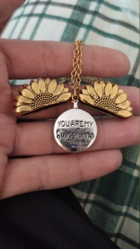 Shopper review of Sunflower Necklace Pendant You Are My Sunshine
