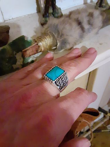 John R. review of Vintage Turquoise Stone Ring