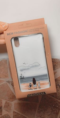 Stephany P. review of Customize Hand Drawn Dog&Dog Owner Photo iPhone Case -Beach Scenery