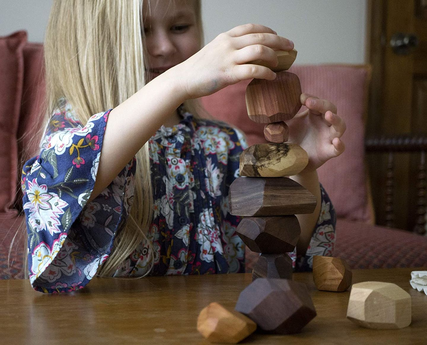 ashley heinen review of 【Last Day 50% OFF】Wood Rock Set Balancing Blocks Natural Wood Toy