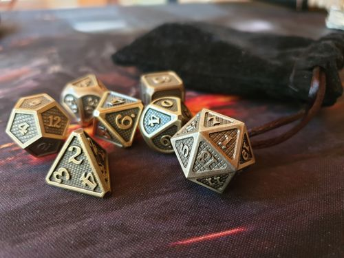 Oscar E. review of Dwarven Forged [D&D Metal Dice] - 3 Styles