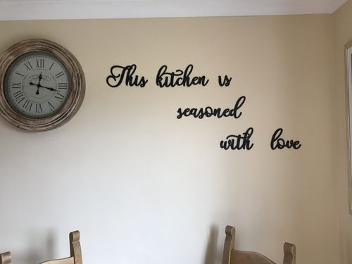 Hoagard This Kitchen Is Seasoned With Love Metal Wall Art