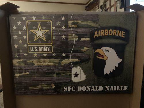 Catina S. review of Personalized Canvas - U.S. Army CSIB - Personalized Name & Logo