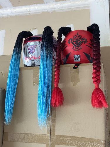 Foxii B. review of Helmet Pigtails Box Braids