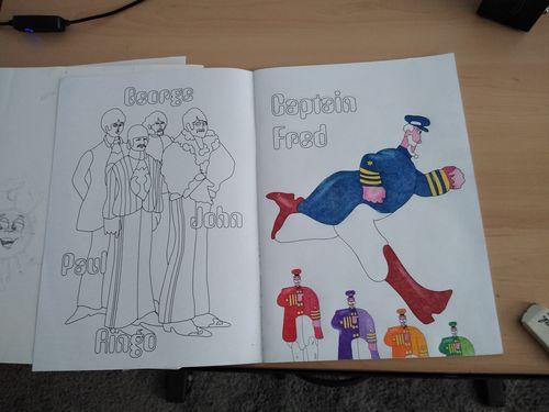 The Beatles Yellow Submarine Coloring Book Hippie Shop