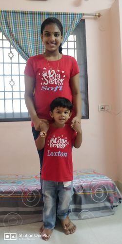 big sister name little brother name print tees for rakhi