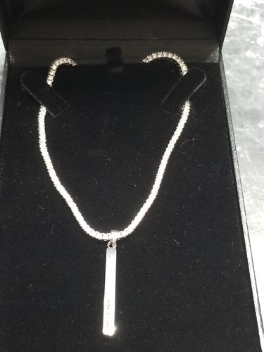 2mm Skinny Lab Made 925 Sterling Silver Iced Out Tennis Chain