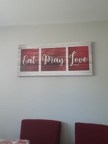 Kitchen Wall Art Eat Pray Love Wood Frame Ready To Hang Sense Of Art